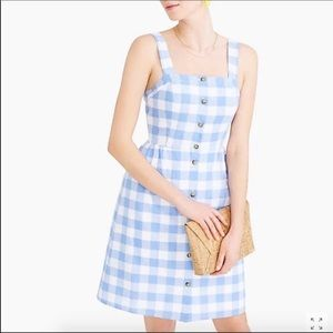NWT J Crew Gingham Button Front Dress